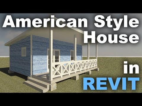 American Style  Wood Frame House in Revit Tips and Tricks
