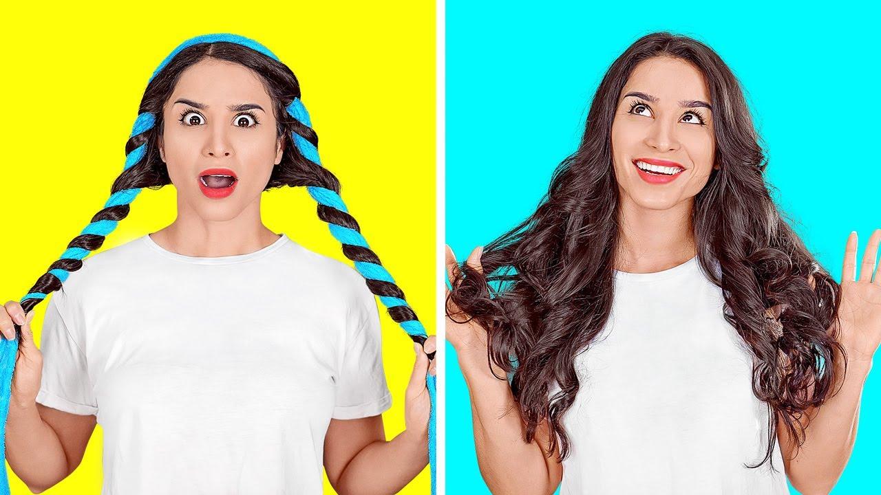 IDE-IDE SEPUTAR RAMBUT YANG SANGAT KEREN || Tip dan Trik Rambut Mudah oleh 123 GO!