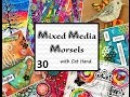Mixed Media Morsels 30 - Shaving Cream Marbled Background