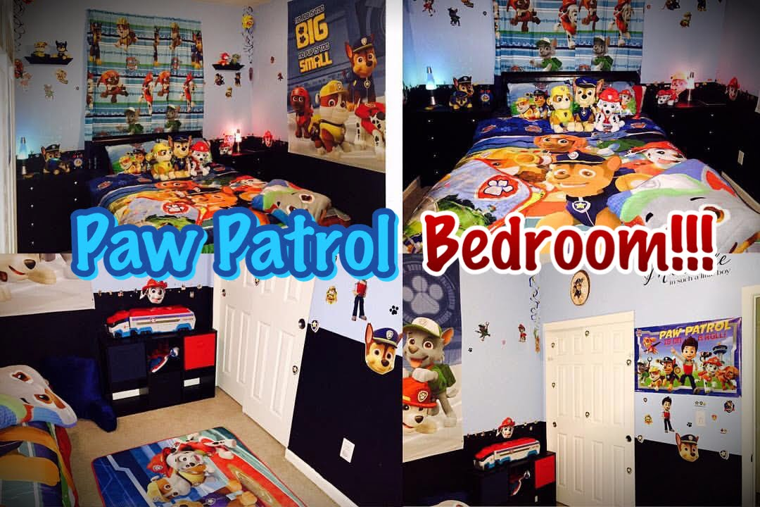PAW PATROL BEDROOM!!