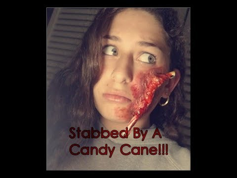 Stabbed By A Candy Cane | SFX Makeup Tutorial