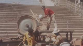 Improvement work on Addis Ababa's Stadium for African Cup football finals, February 1976
