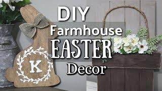 Farmhouse Easter Decor DIY | Dollar Store Easter DIY | Dollar Store Farmhouse | Krafts by Katelyn