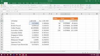 How to Add Real Time Currency Converter in Excel Sheet (Calculate Currency & Update)