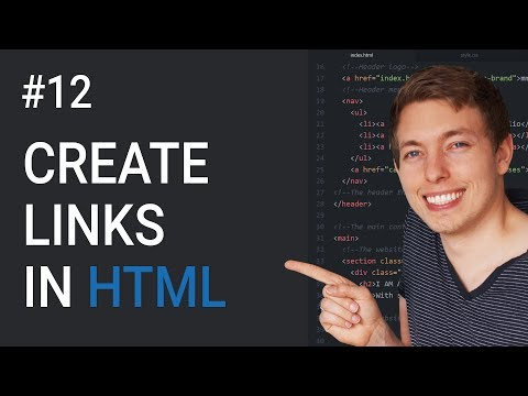12: How To Create Links In HTML | Basics Of CSS | Learn HTML And CSS | HTML Tutorial