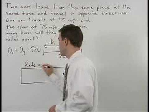 Motion Word Problems - MathHelp.com - Algebra 1 Help - YouTube