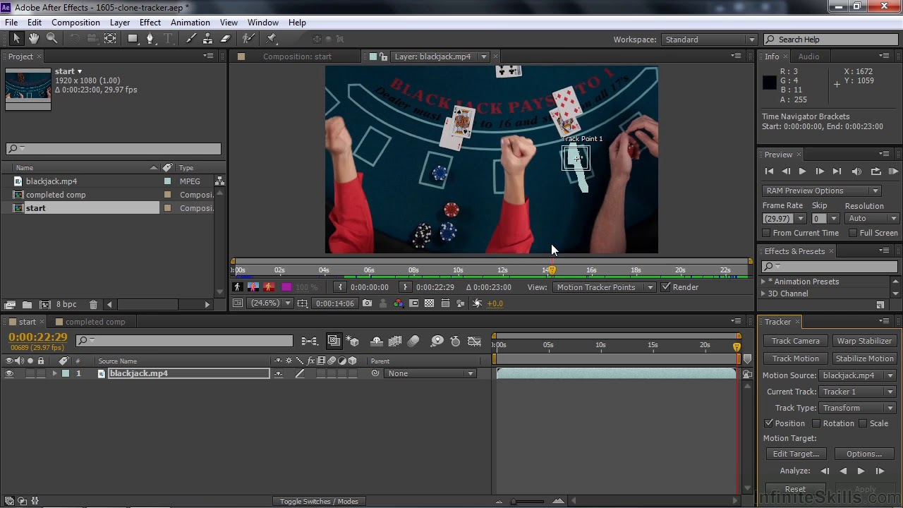 after effect tutorials Using The Clone Stamp Tool With The Tracker