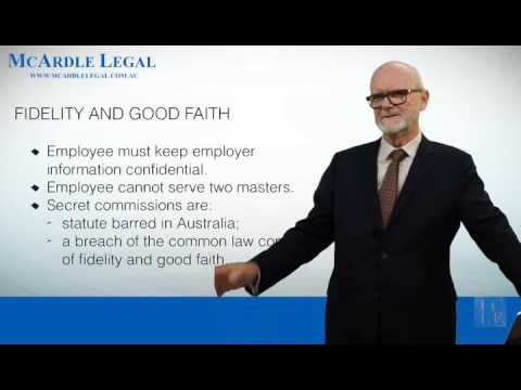 EMPLOYMENT CONTRACT - Fidelity and Good Faith