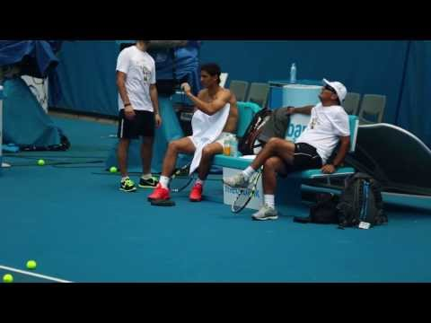 Rafa Nadal topless - 2014 Australian Open
