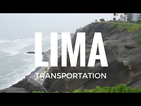 Taxi and Bus Travel Lima Peru