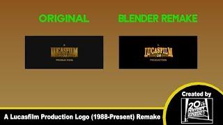 A Lucasfilm Ltd  Production logo (1988-Present) remake