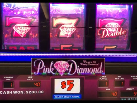 CLASSIC OLD SCHOOL HIGH LIMIT SLOTS: DOUBLE DIAMOND STRIKE + PINK DIAMOND SLOT PLAY!