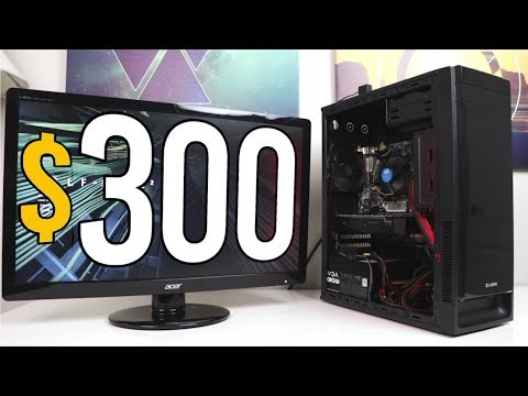 $300 CONSOLE KILLER Gaming PC Challenge! - VOLT PT.1 - Build & Benchmarks