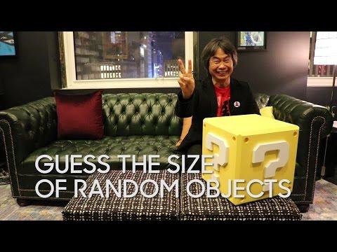 Shigeru Miyamoto Guesses The Size of Random Objects