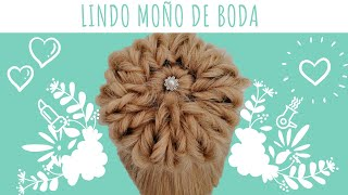 Hazlo en Casa en 5 Minutos Moño de Boda 👰 Wedding Bun 💐 Beautiful Bun Hairstyle 👰