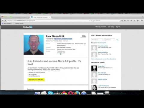 LinkedIn Contact Details And Links To Your Website