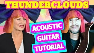 Thunderclouds Guitar Chords and Baseline - LSD Sia