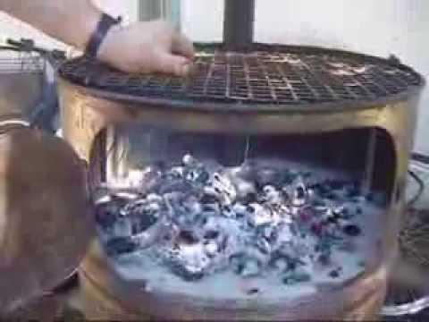 Como encender fuego en parrilla horno tambor vertical for Como encender una barbacoa