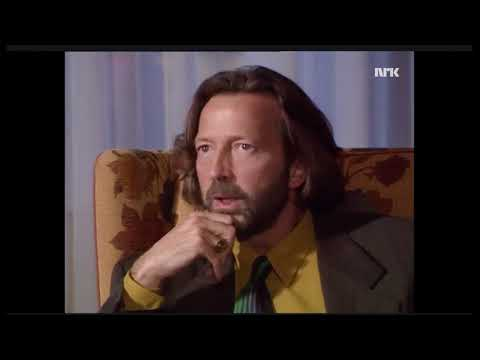 Interview with Eric Clapton on Norwegian television 1989