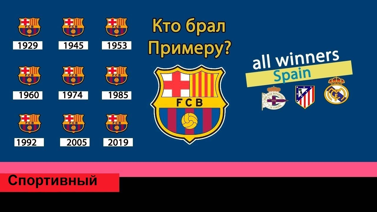 Все призеры чемпионата испании по футболу
