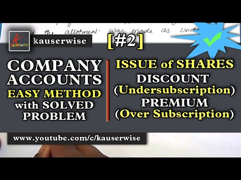 Company Accounts - Issue of Shares #2 [Discount & Premium -