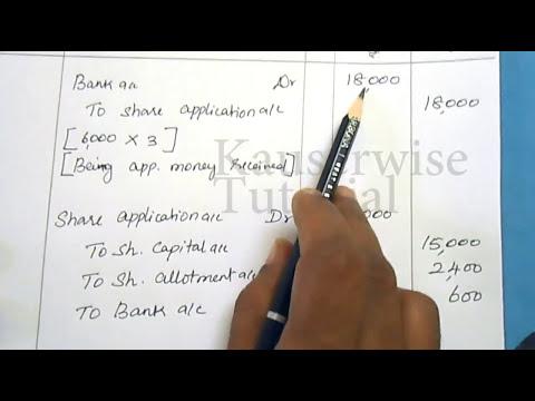 Company Accounts||Issue of Shares [#2] [Discount & Premium||Prorata||Calls in arrears]