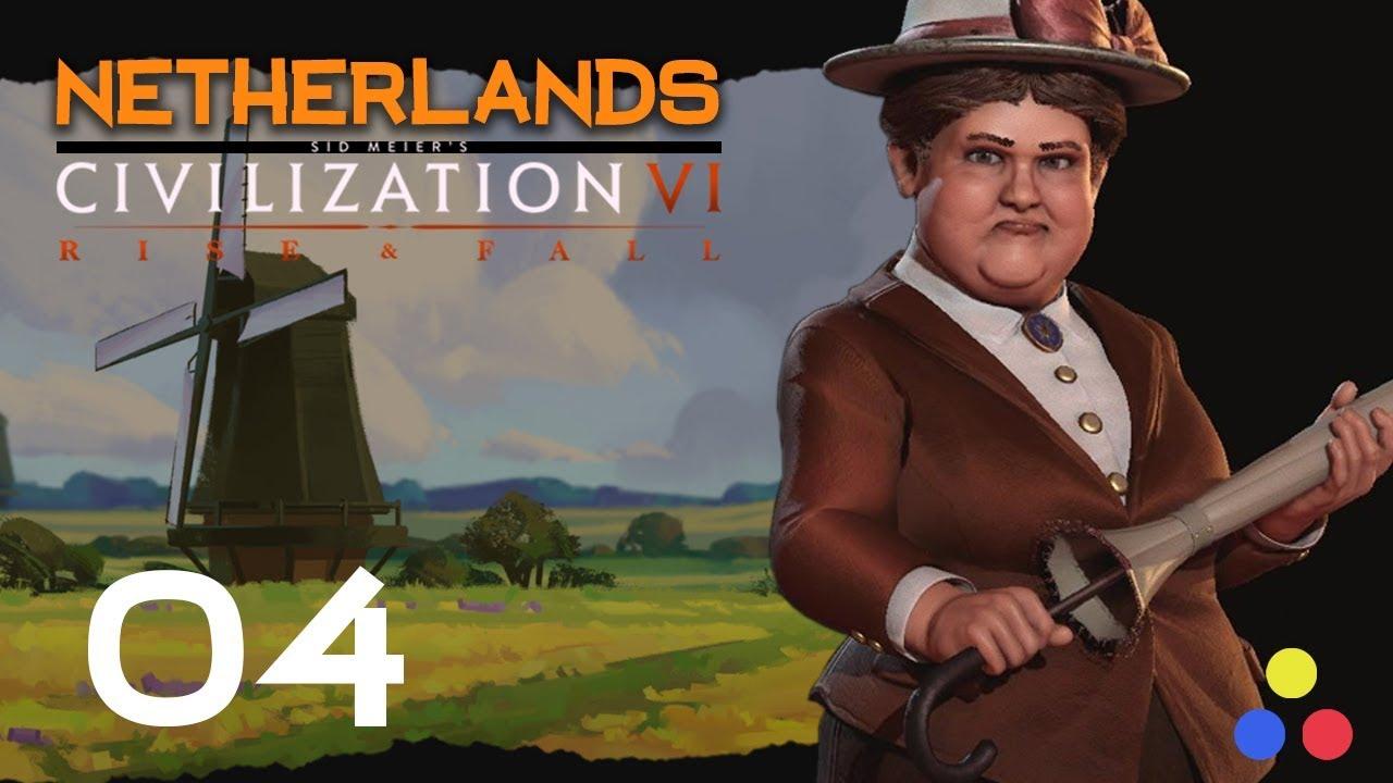 Deity Netherlands - Wilhelmina & The Dutch | Civilization 6 - Let's Play |  Episode 4 [Standoff]