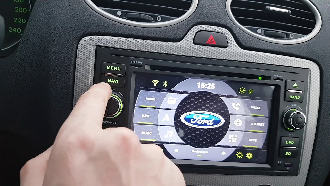 a sure android 6 car radio ford focus mk2 youtube. Black Bedroom Furniture Sets. Home Design Ideas
