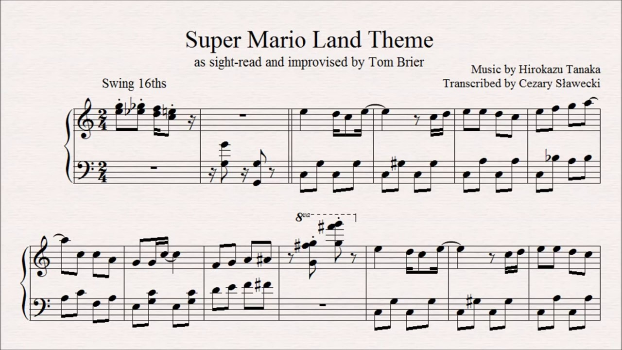 Super Mario Land Theme ピラプト王国, as improvised by Tom Brier ~ Violin Cover