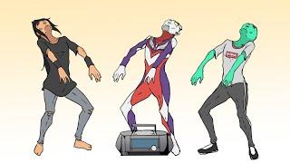 KOK NYAMBUNG?? cinta satu malam vs Ultraman Tiga!!!!
