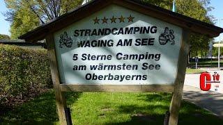 Campingplatz Strandcamping Waging am See in Oberbayern