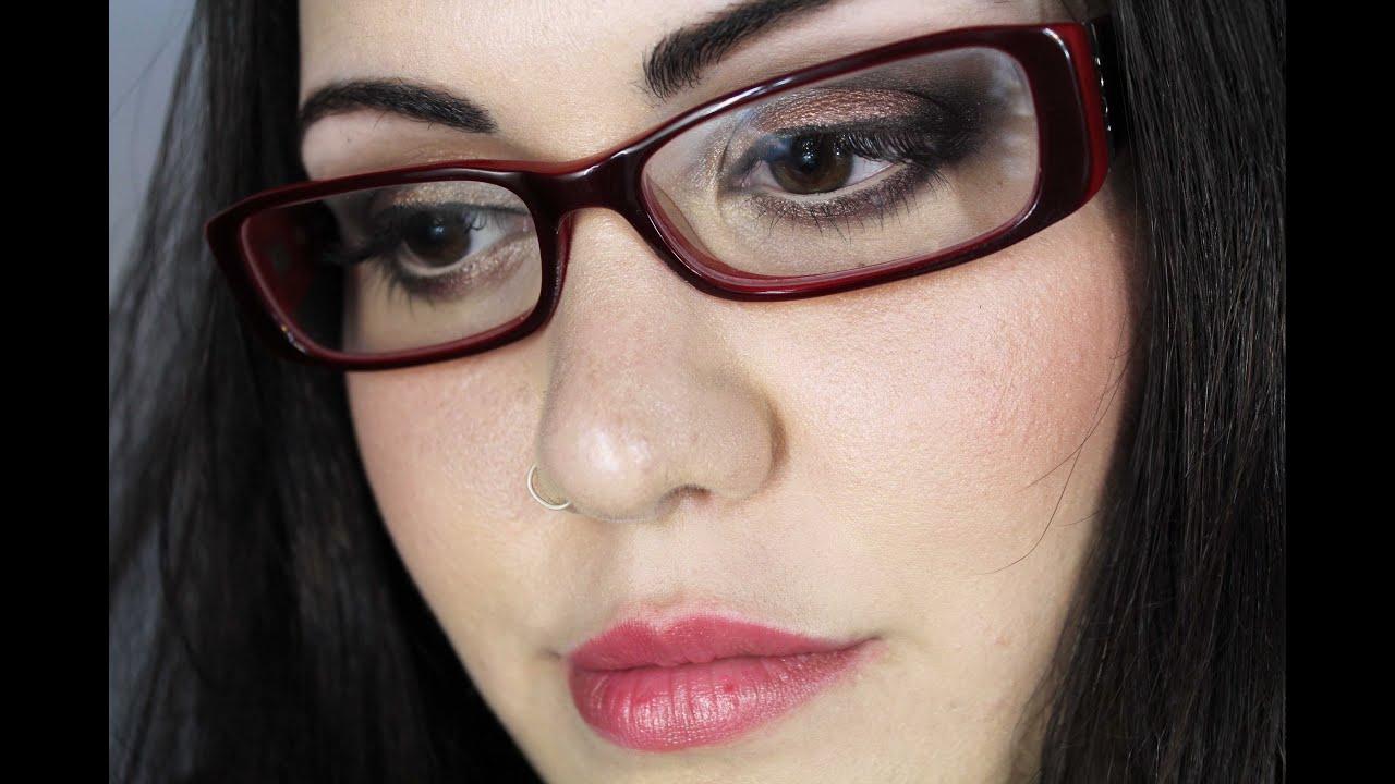 Look Gafas/Lentes (II): Miopía/Agrandar Ojos Pequeños - YouTube