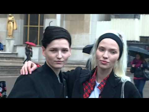 Katlin AAS & Sasha LUSS @ Paris Fashion Week March 2014