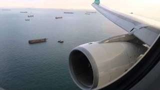 Landing @ Changi with Garuda Indonesia A330-200