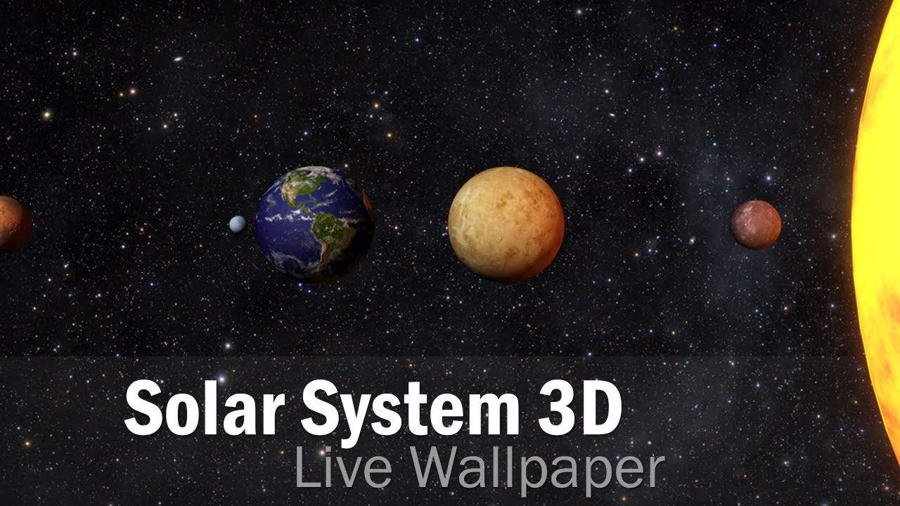 Solar System 3D Free LWP | Live Wallpapers | Android - YouTube