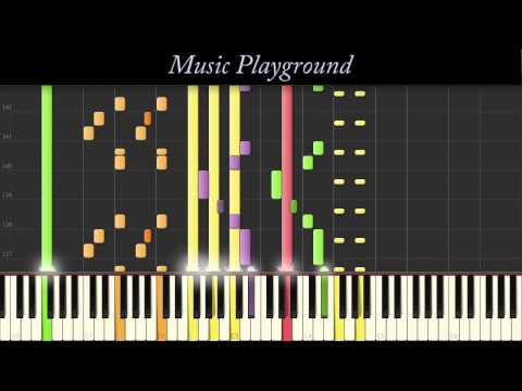 122 {IMPOSSIBLE} Skrillex + Alvin Risk - Try It Out (NEON MIX) - Piano - Full (Synthesia)