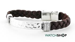 Icon Brand Jewellery Base metal Braided Bunch Bracelet (LE1124-BR-SIL)