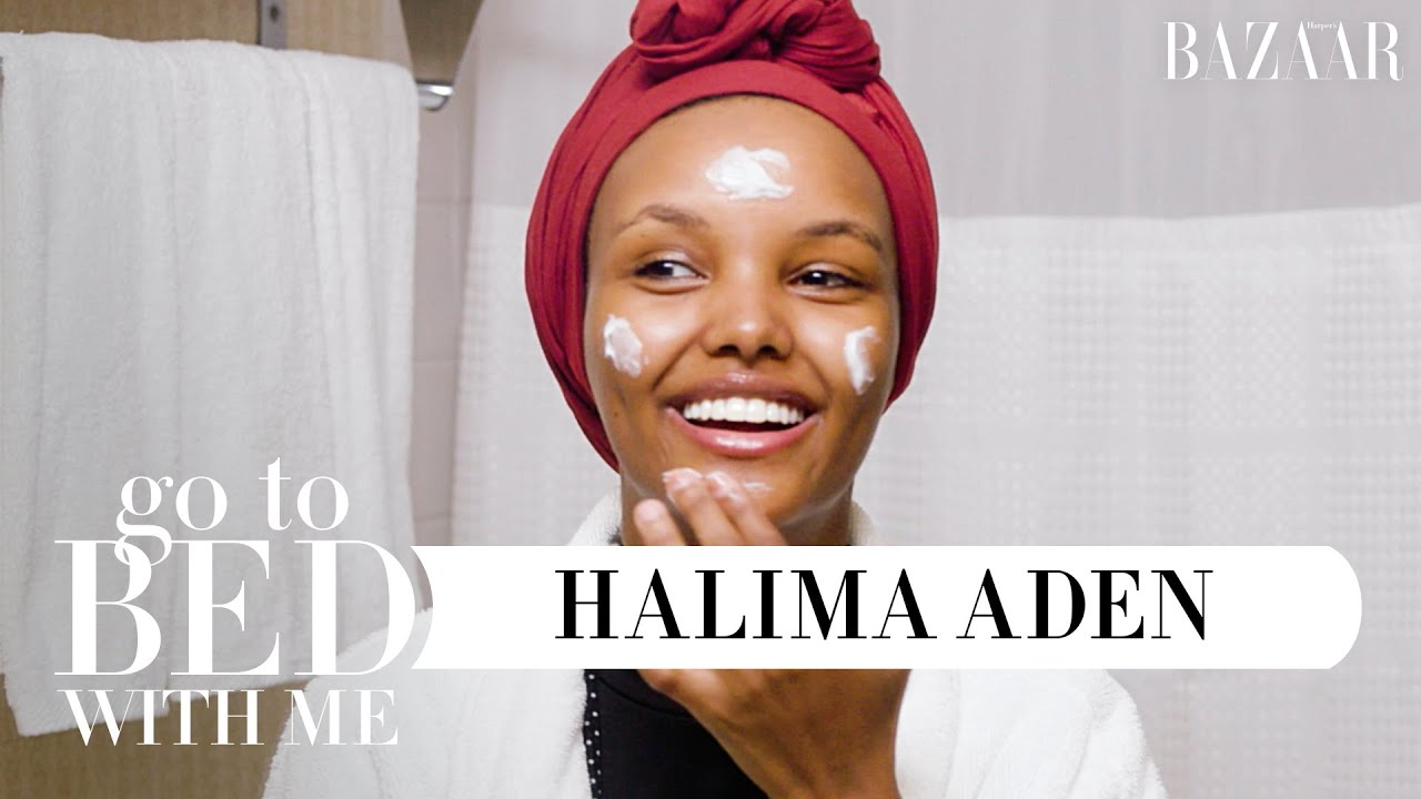 Top Model Halima Aden's Nighttime Skincare Routine | Go To Bed With Me | Harper's BAZAAR