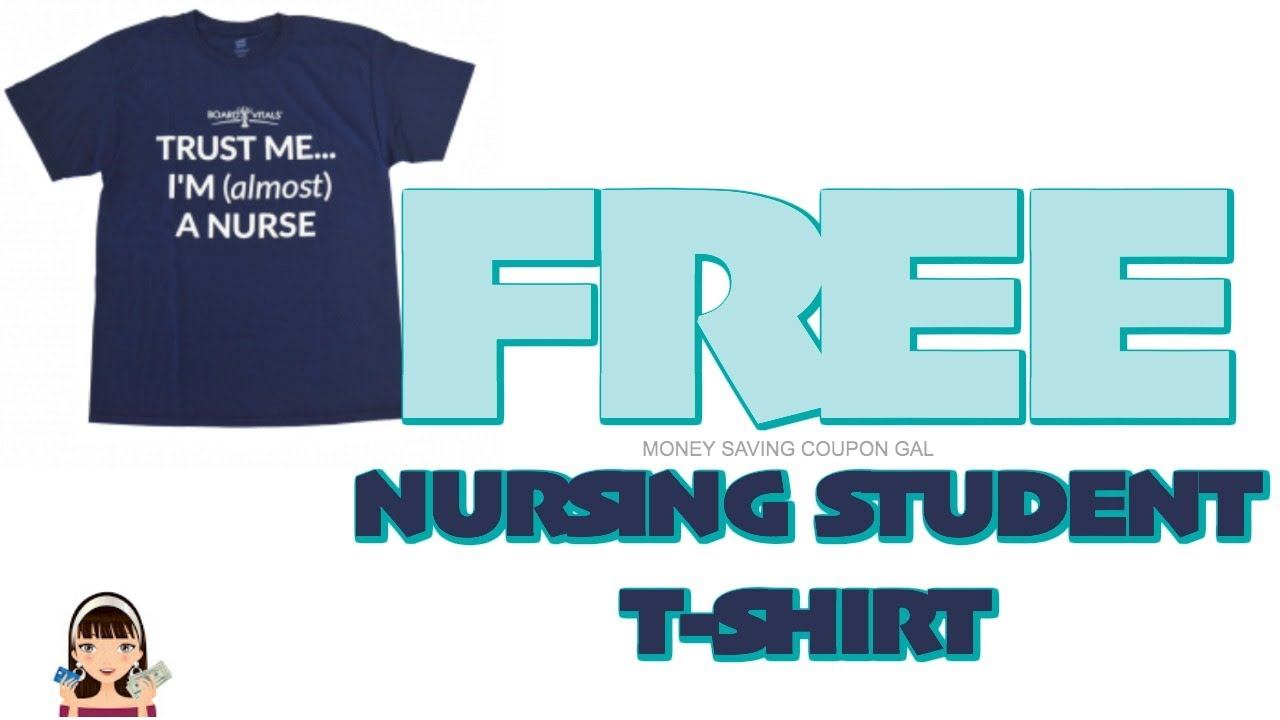 22331a35f FREE NURSING STUDENT T-SHIRT 👕 - YouTube