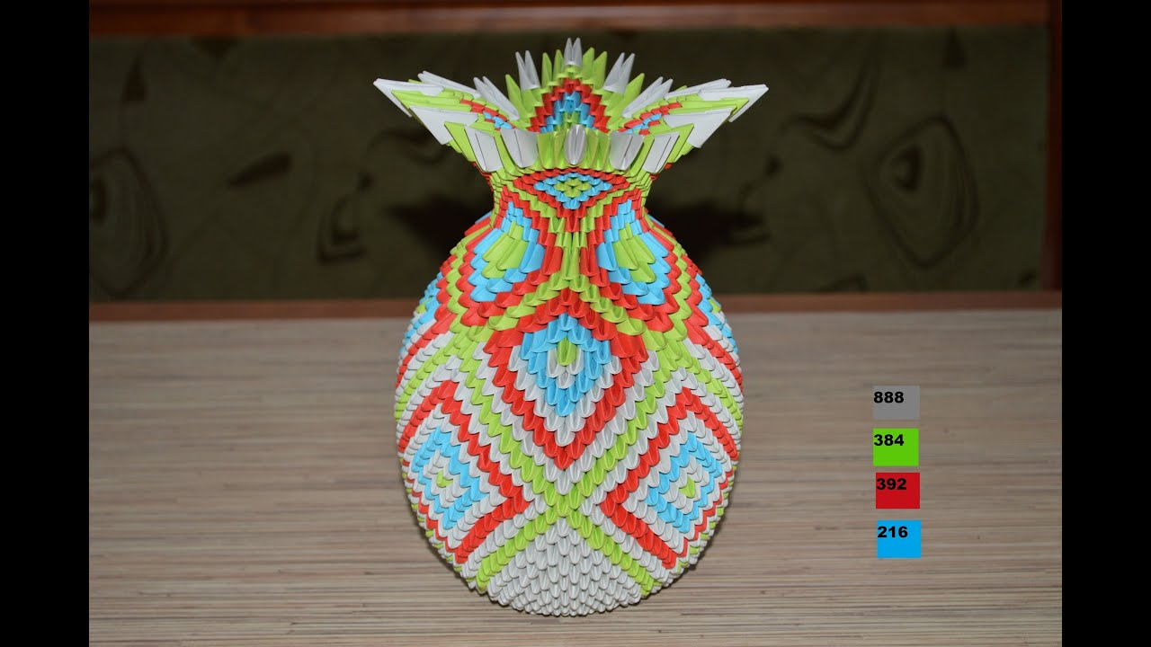 3d 3d origami vase youtube reviewsmspy