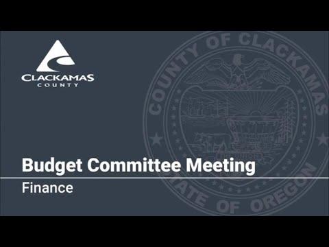 Finance Budget Presentation 2019