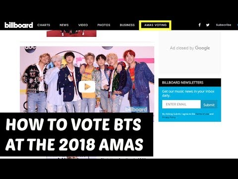 HOW TO VOTE BTS AT THE 2018 AMAS [AMERICAN MUSIC AWARDS 2018]