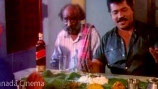 Kannada Comedy Videos    Tiger Prabhakar Eating Comedy Scene    Kannadiga Gold Films    HD