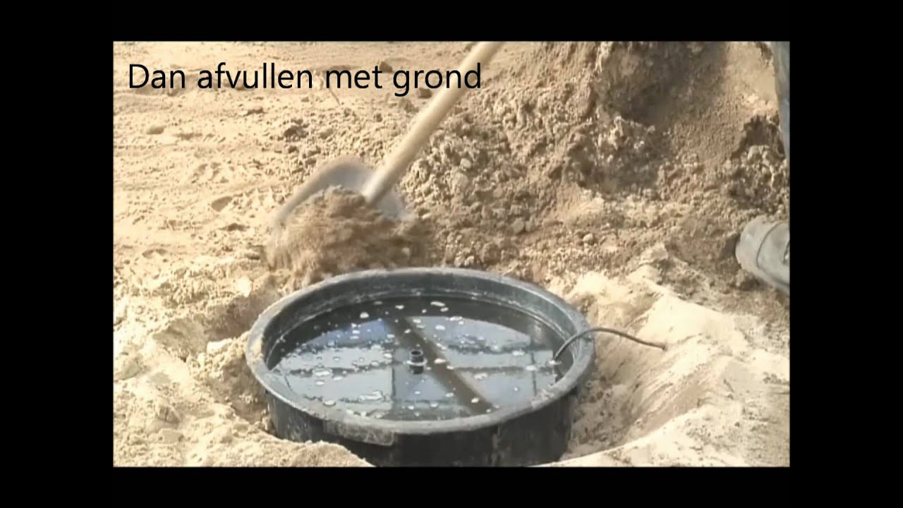 Waterpartij In Tuin Plaatsen Waterornament.wmv - Youtube