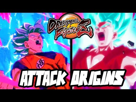 Goku Super Saiyan Blue - ATTACK ORIGINS | Dragon Ball FighterZ