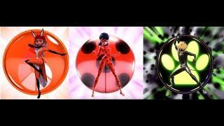 Miraculous Ladybug - Three superhero's group transformation