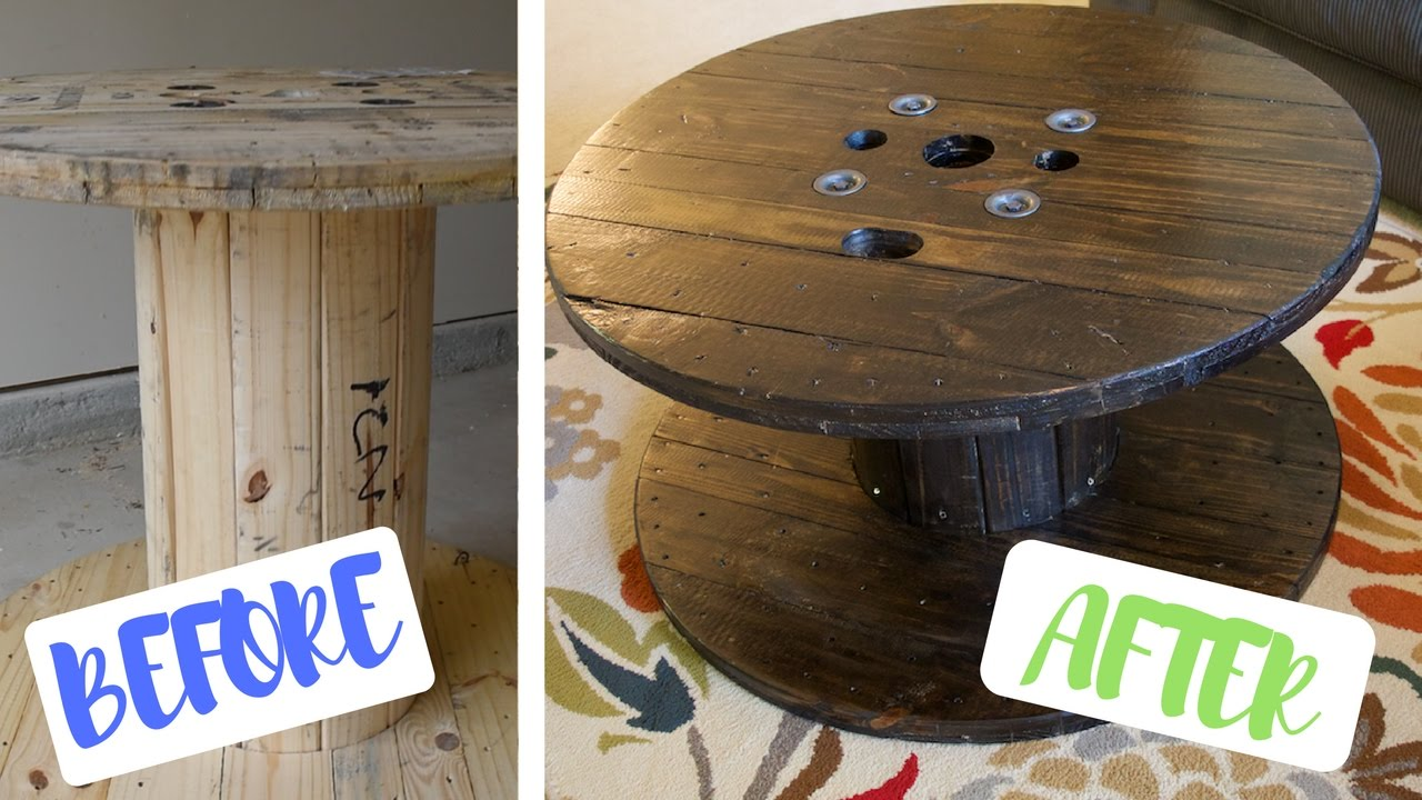 Elegant Coffee Table Made Out Of A GIANT Spool (DIY)