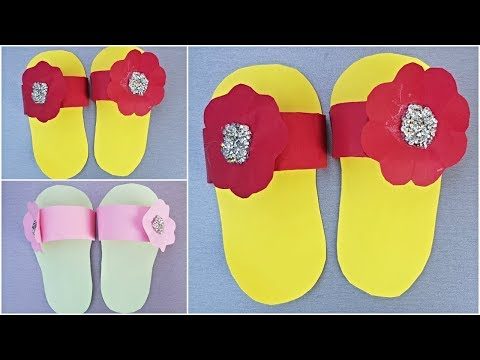 DIY Slippers: How to Make Paper Slippers for Kids - Activity with Paper