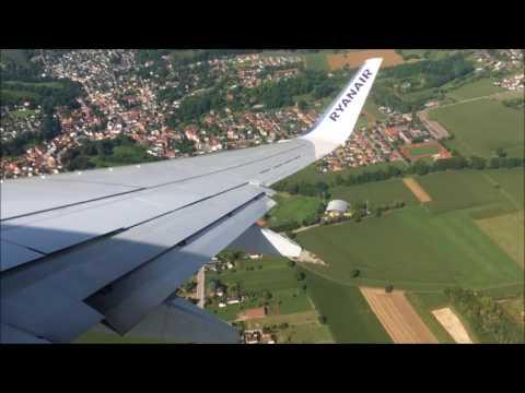 RYANAIR 737-800 BASEL(BAS)-STANSTED(STN)~FULL FLIGHT~