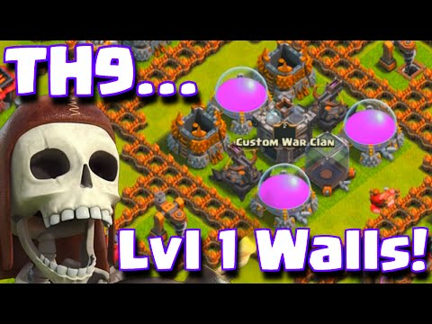 Clash Of Clans Townhall 9 Level 1 Walls | TH9 Base Defense Guide